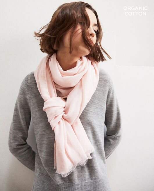 Foulard en coton organique Rose