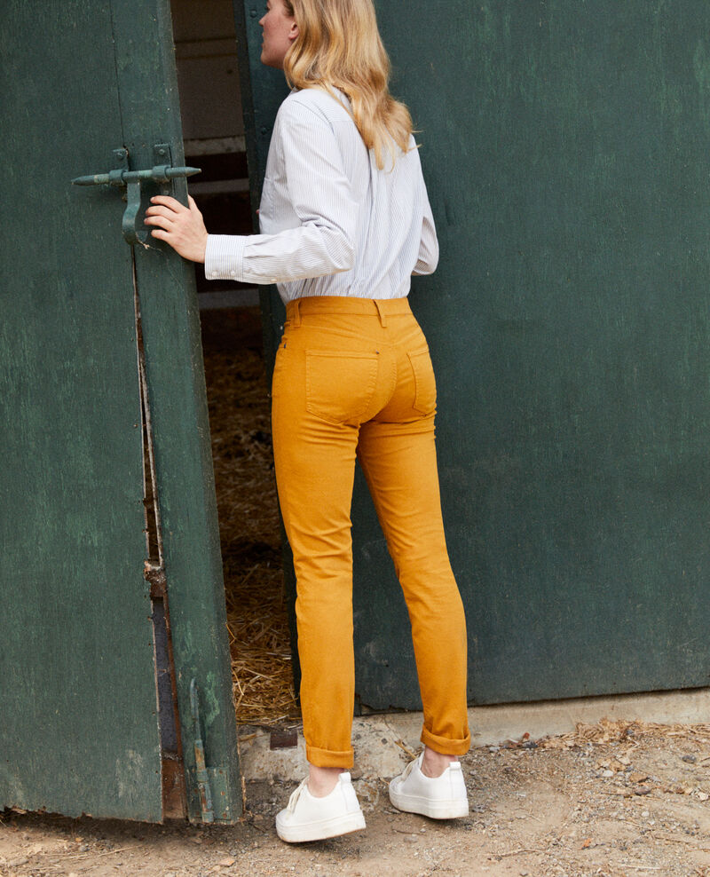 Jean coupe slim Golden brown Jilineto