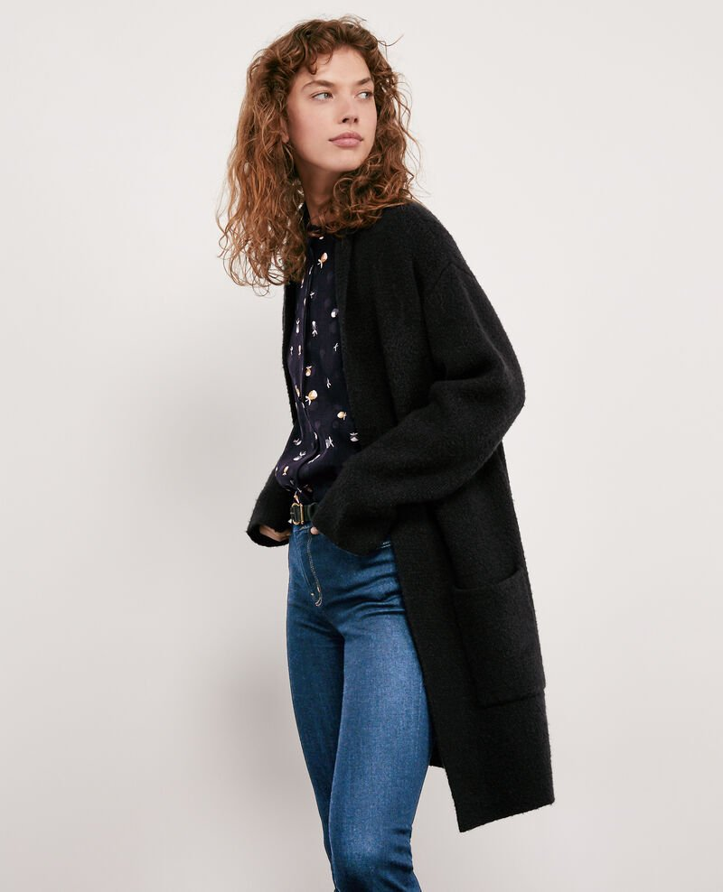 973cd290102c Gilet mi-long couleur Noir pour femmes - Demis