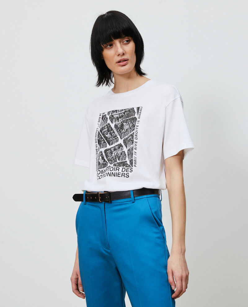 T-shirt en coton manches courtes Black beauty Marlane