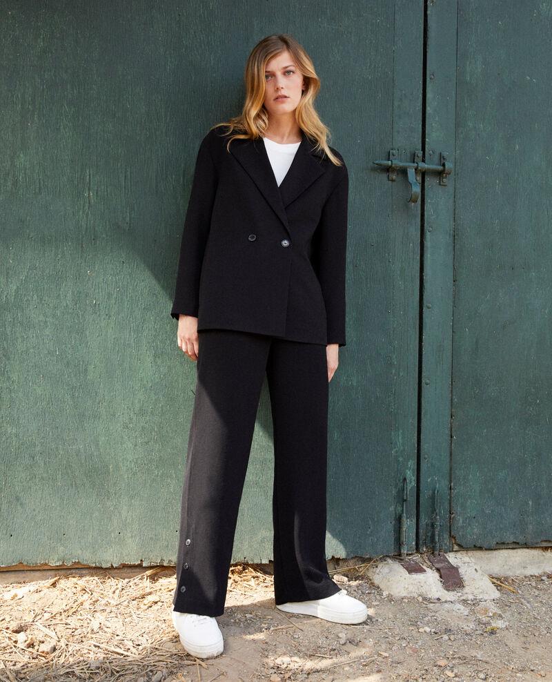 Pantalon avec détail de boutons Noir Jovembre
