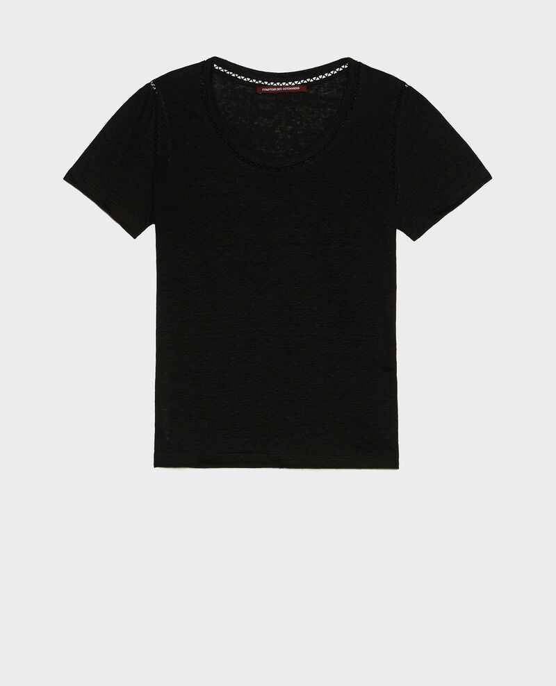 T-shirt en lin Black beauty Lye