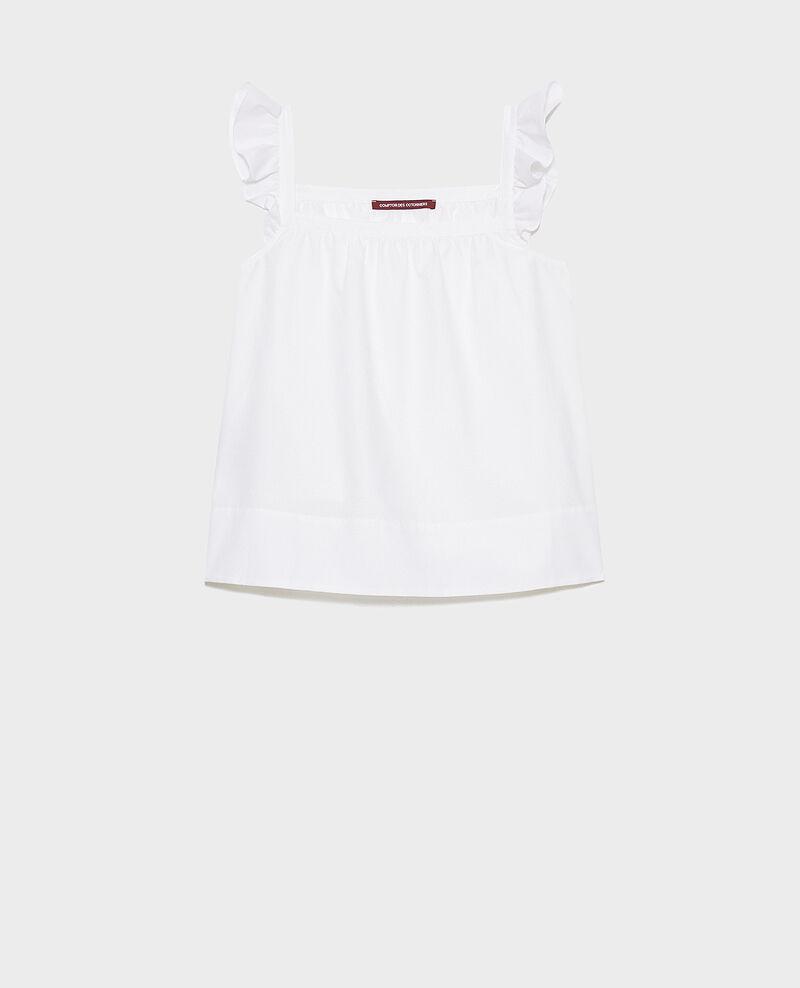 Top à bretelles en coton et soie Brilliant white Nymphie