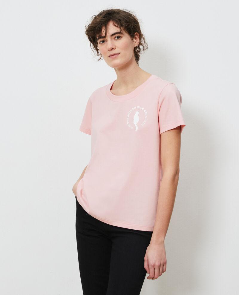 T-shirt en coton Powder pink Nyonsa