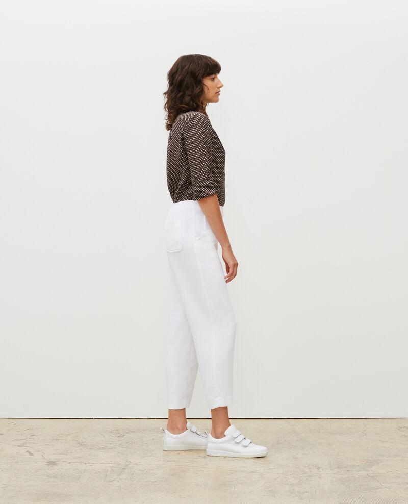 Pantalon fluide élastiqué Optical white Luant