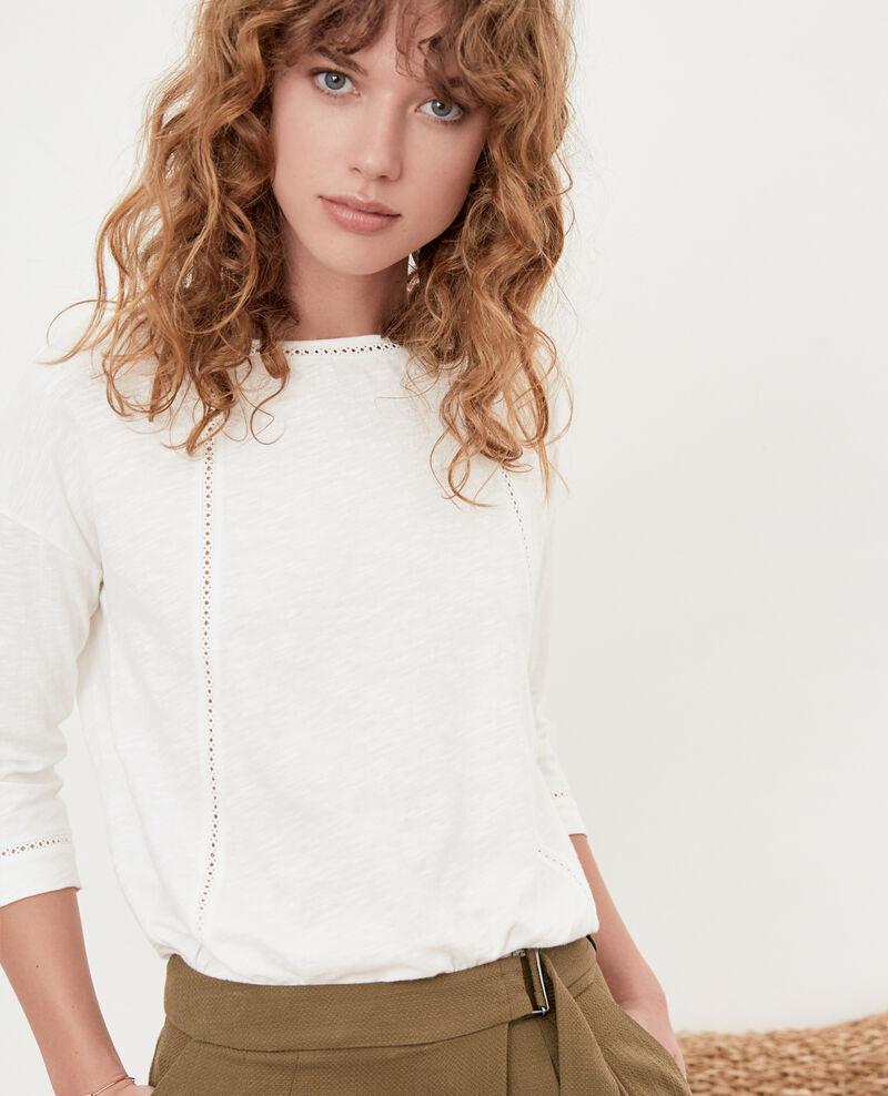 T-shirt avec détails fantaisie Blanc Florin