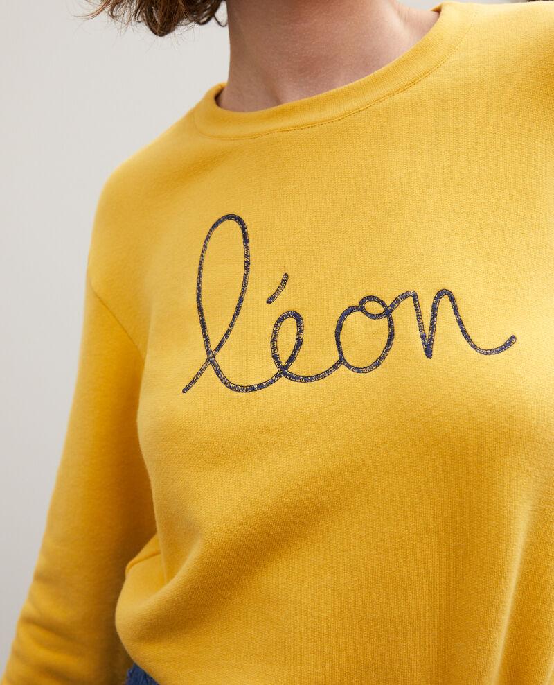 Sweatshirt brodé Léon Golden spice/peacoat Gleon