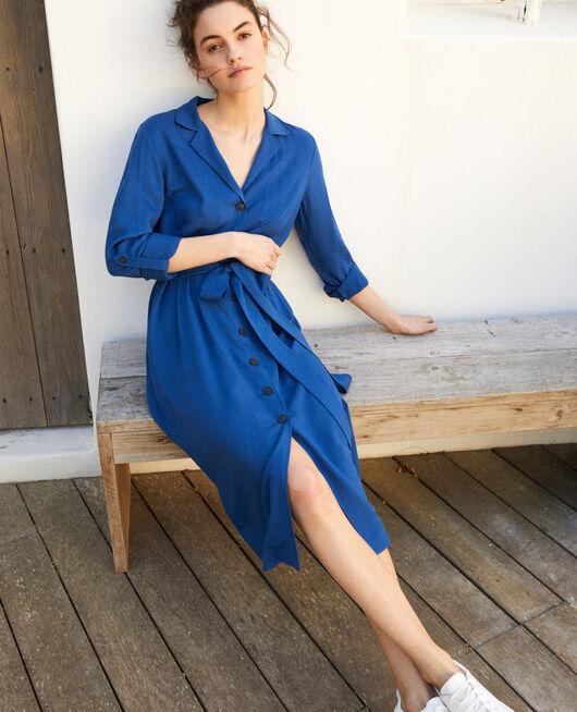 Robe chemise en viscose IMPERIAL BLUE
