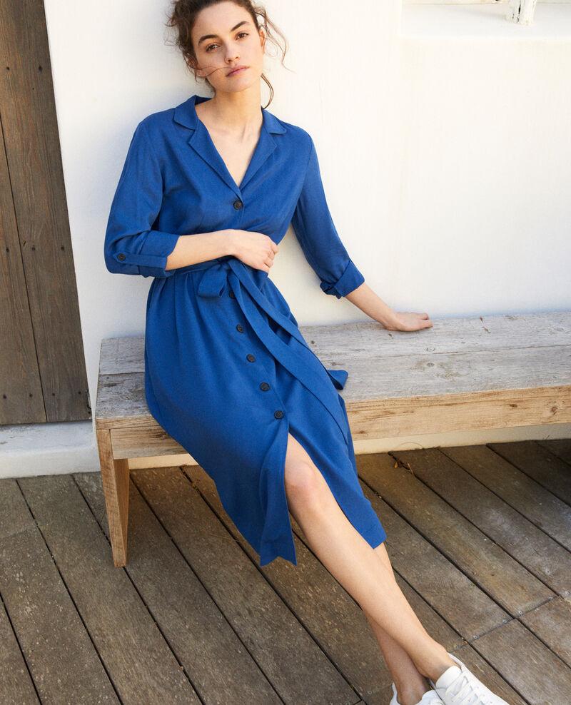 Robe chemise en viscose Imperial blue Imonade