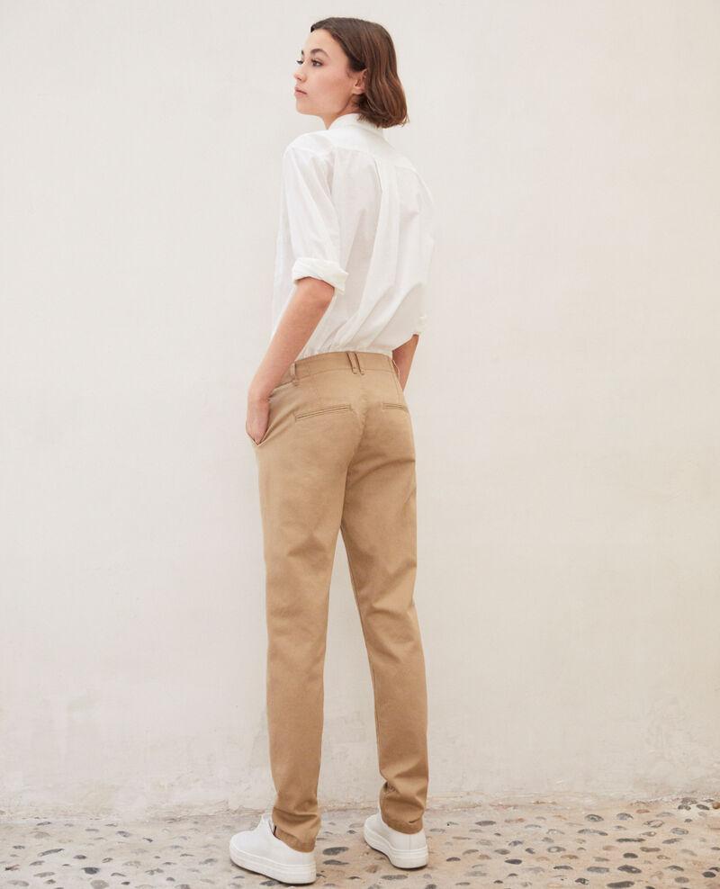 Pantalon en toile Safari beige Irouba