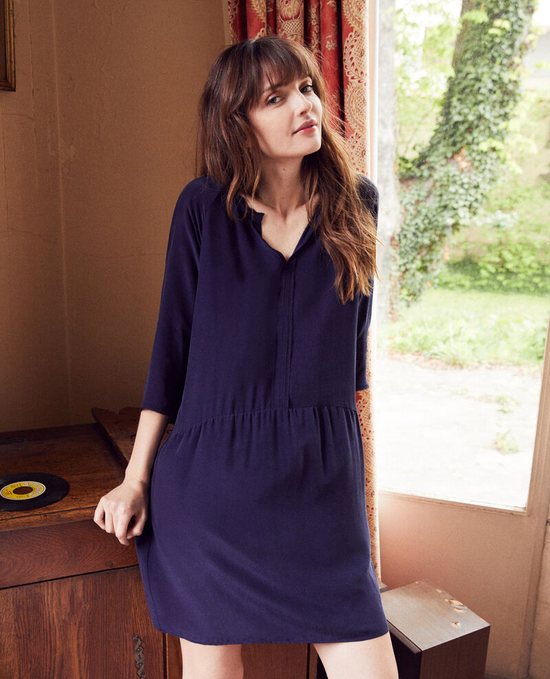 Robe avec de la soie Evening blue Jeopard