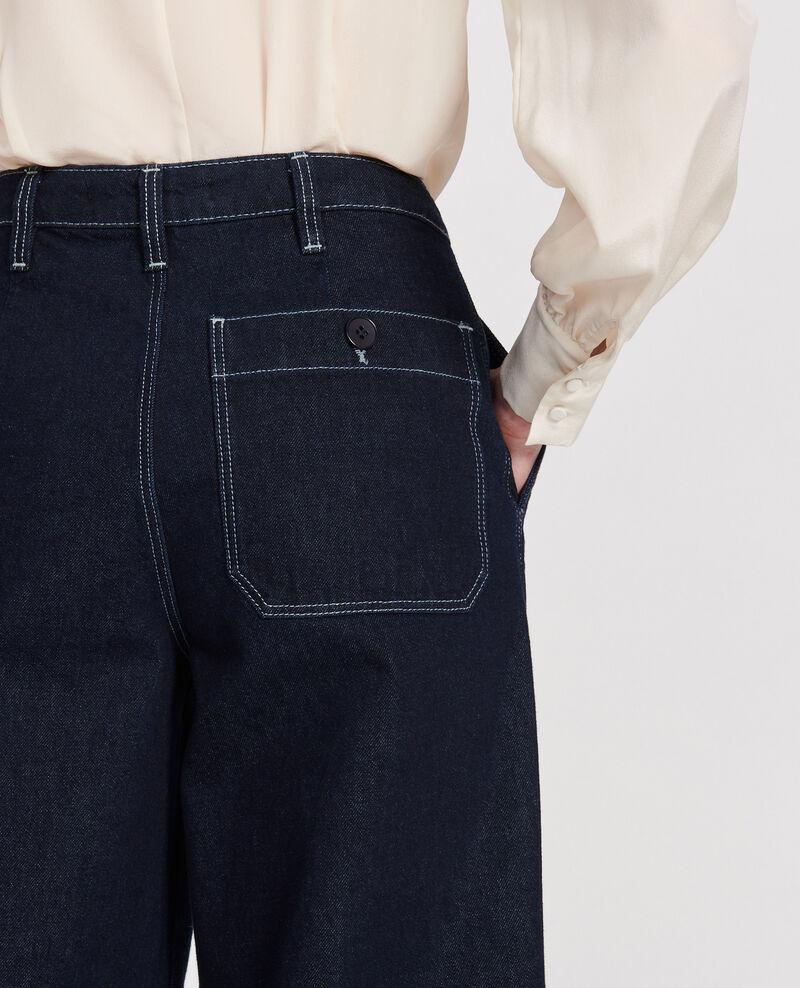 Jean wide leg cropped  Denim rinse Leandra