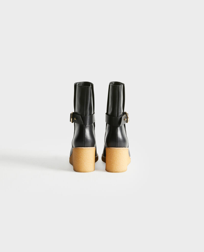 Bottines compensées en cuir Black beauty Perignylarose