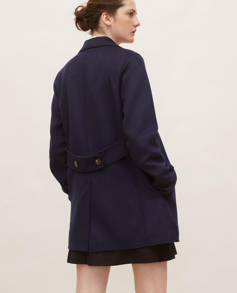 Manteau caban en lainage double face Maritime blue Lintot