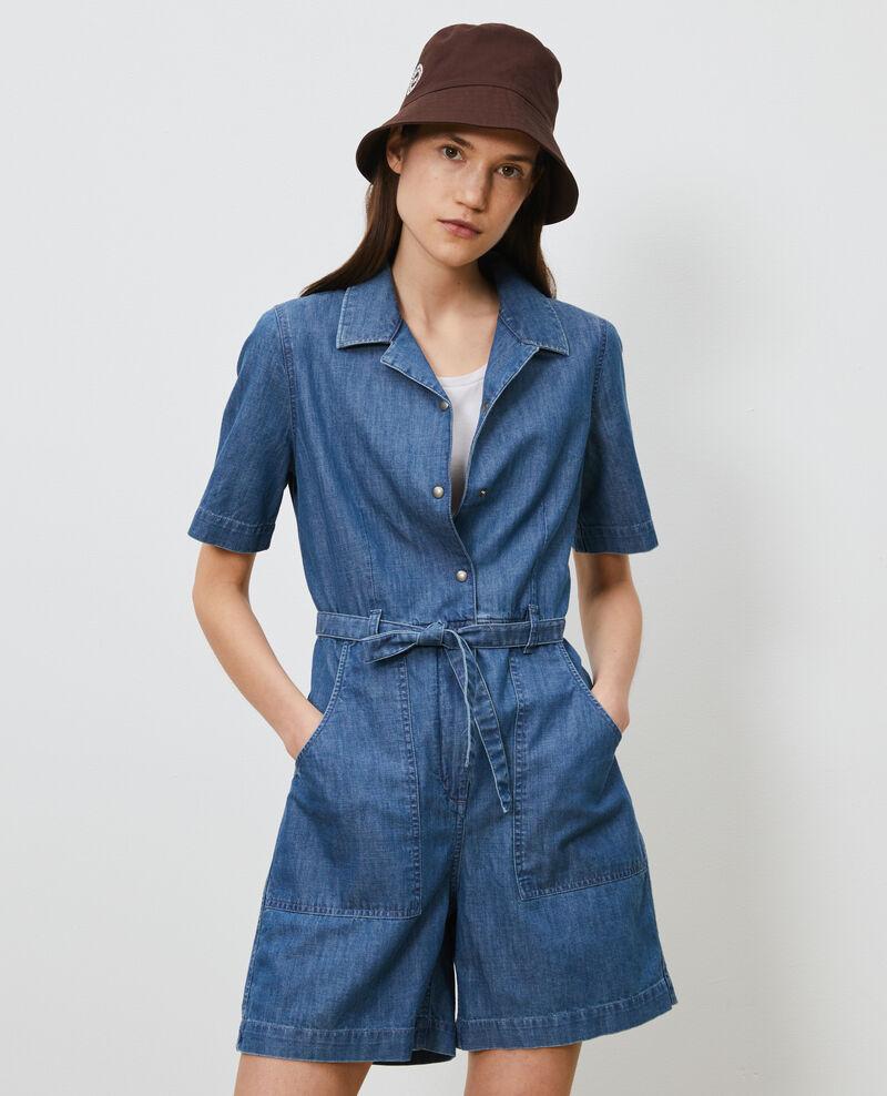 Combinaison short en jean Denim blue Ninosa