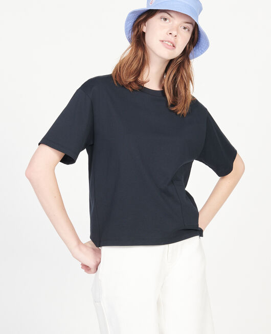 T-Shirt boxy en coton mercerisé BLACK BEAUTY