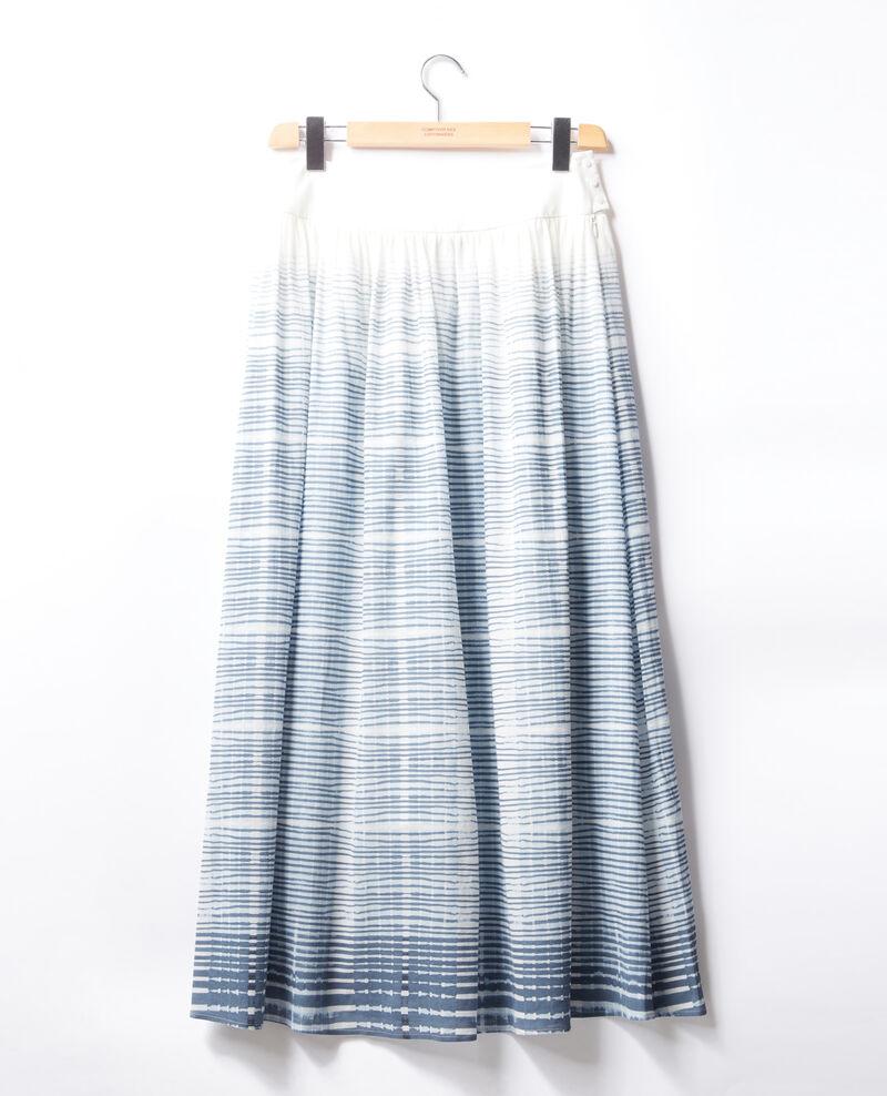 Jupe longue Tie&dye washed blue Francky
