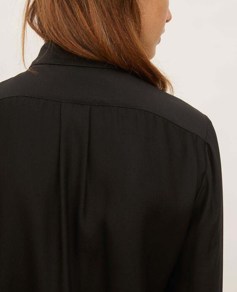 SIBYLLE - Chemise en soie Black beauty Loriges