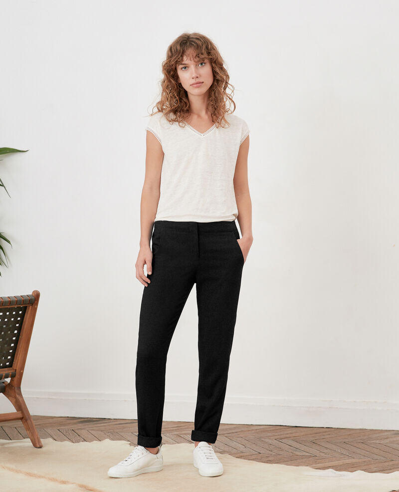 Pantalon à plis Noir Futil
