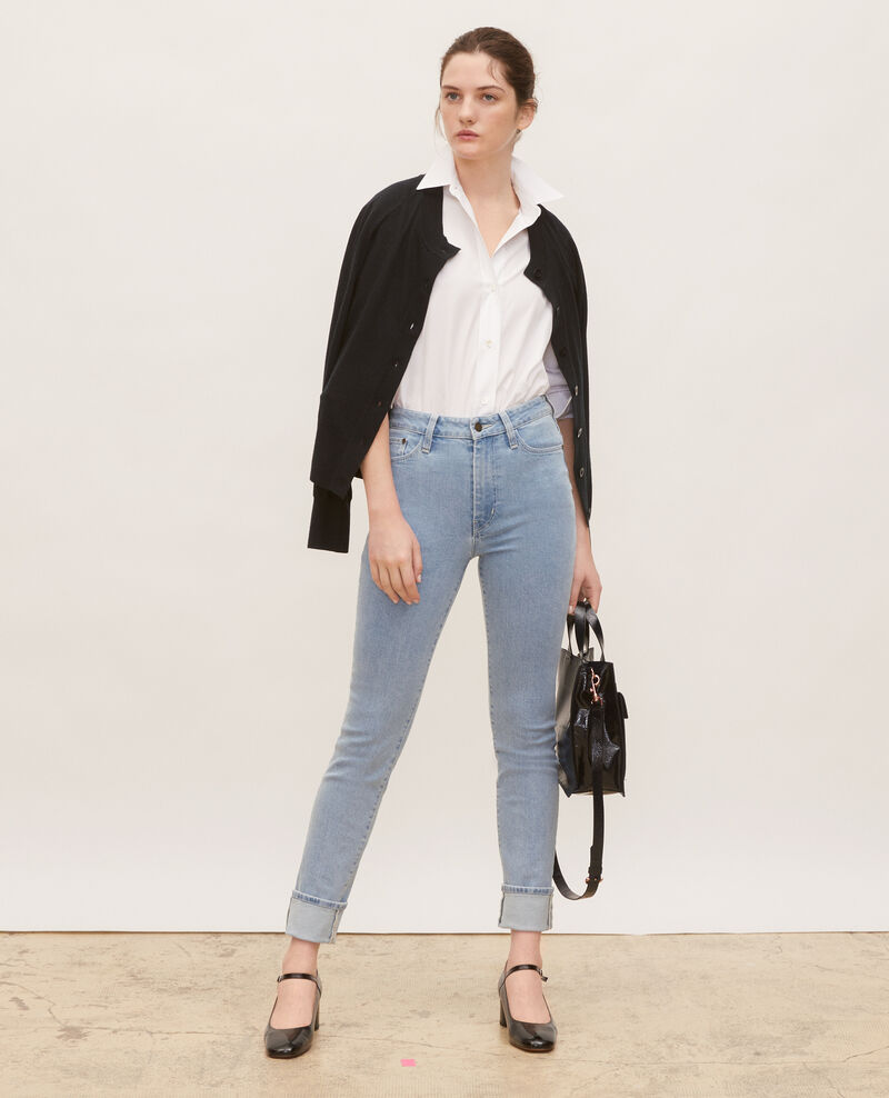 SLIM HIGH RISE - Jean vintage wash Denim vintage wash Linxe