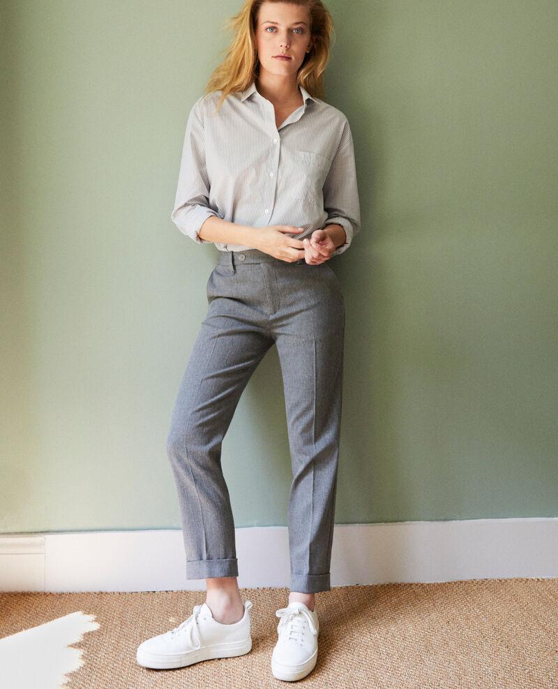 Pantalon coupe carotte Middle grey Jokyo