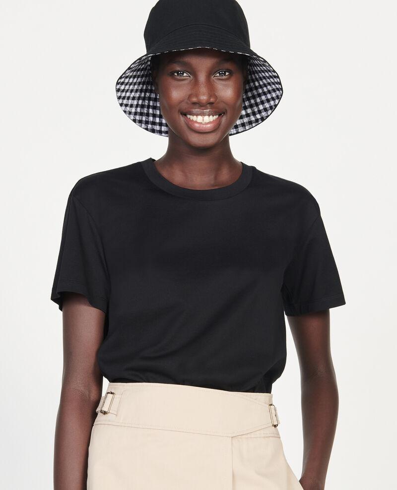 T-shirt classique en coton égyptien  Black beauty Lirous