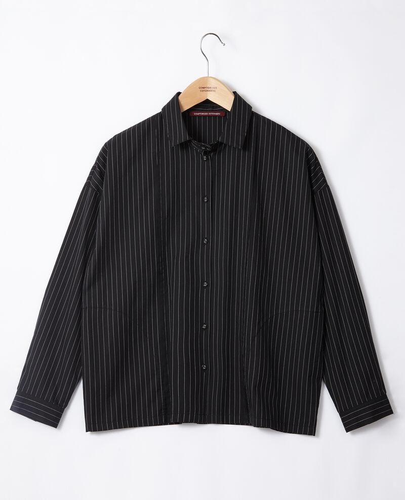 Chemise coupe droite Noir Goran