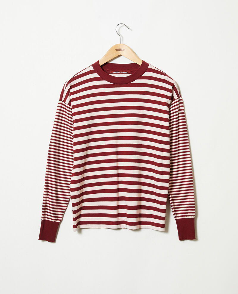 T-shirt marinière en coton Cabernet/hush Jeidala