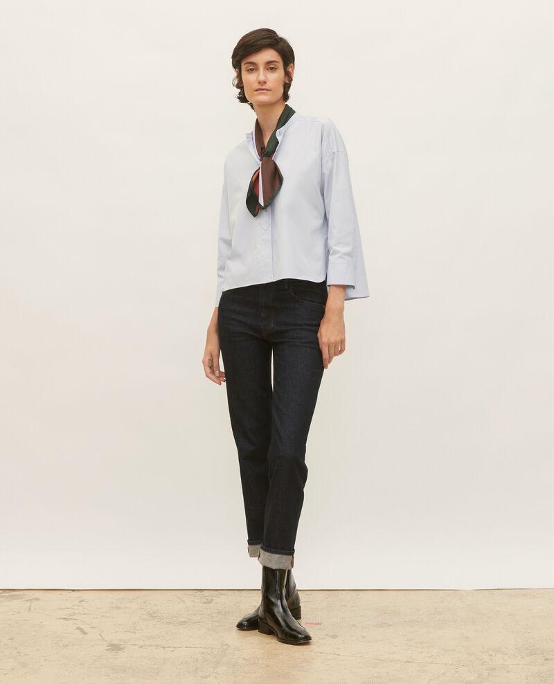 Chemise sans col en popeline de coton Heather Lyringas