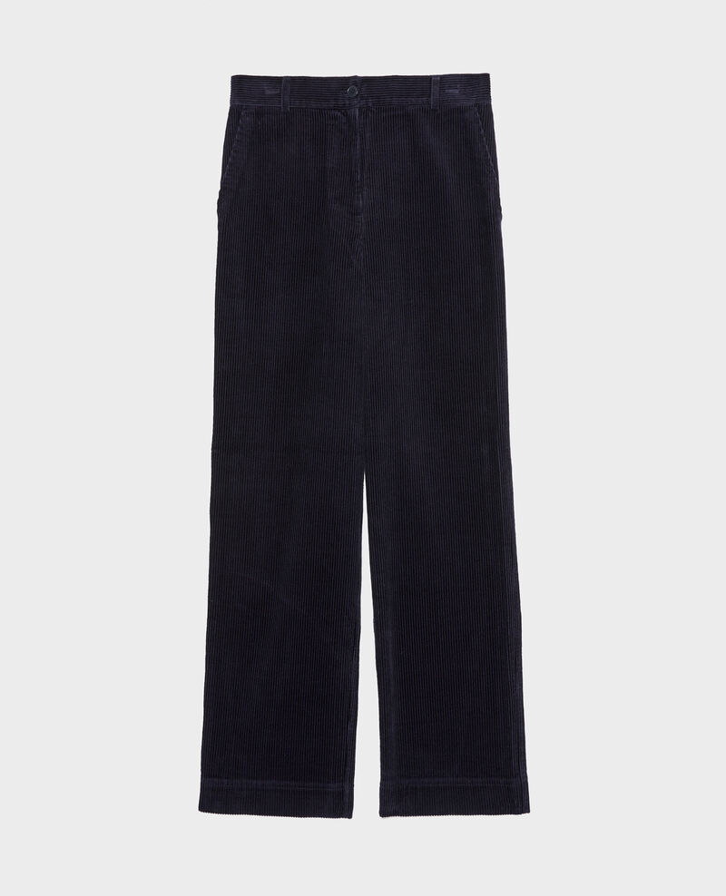 Pantalon large en velours côtelé Night sky Maora