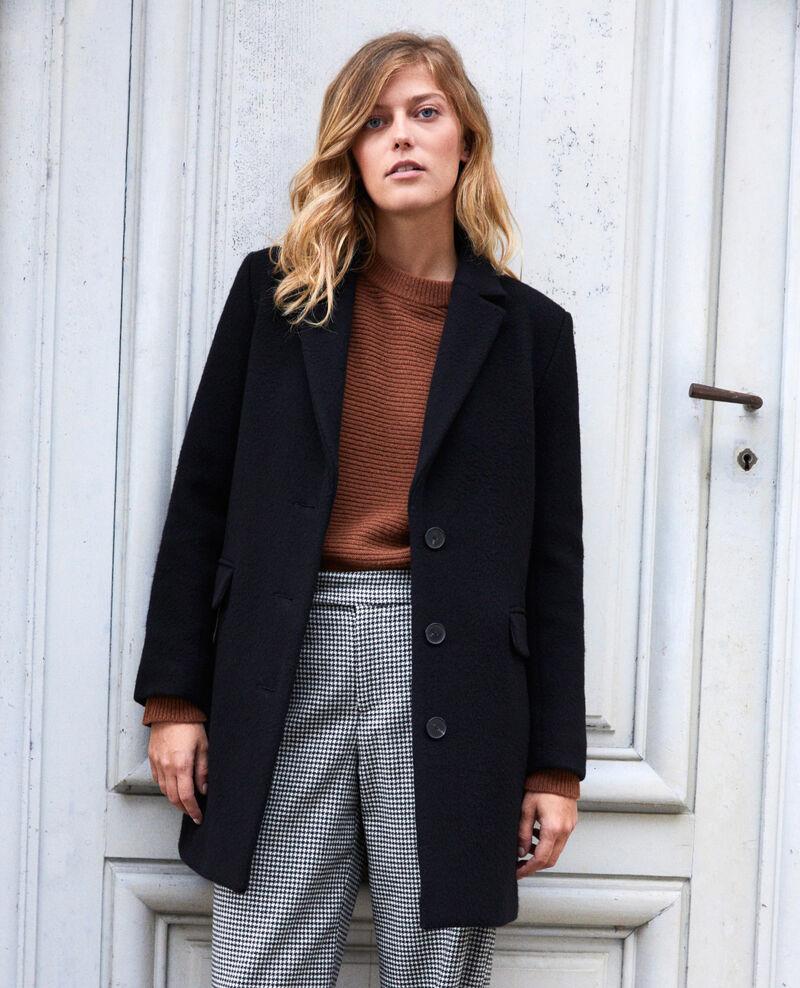 Manteau col tailleur Noir Jasmere
