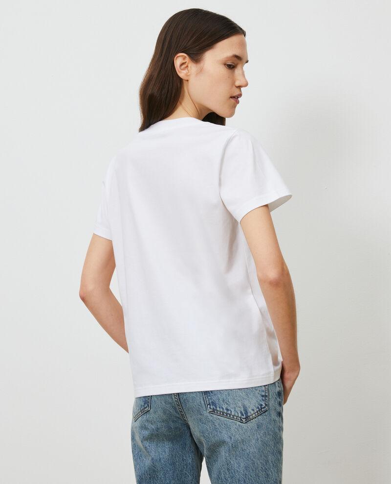 T-shirt en coton manches courtes Brilliant white Mae