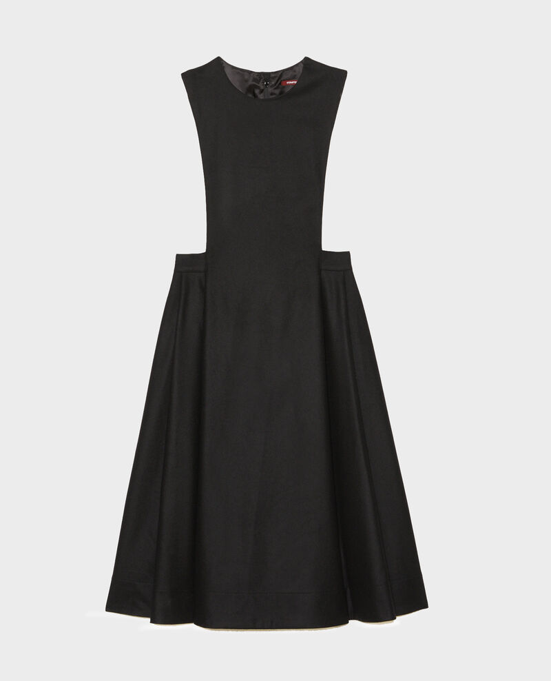 Robe chasuble en laine Black beauty Mantilly
