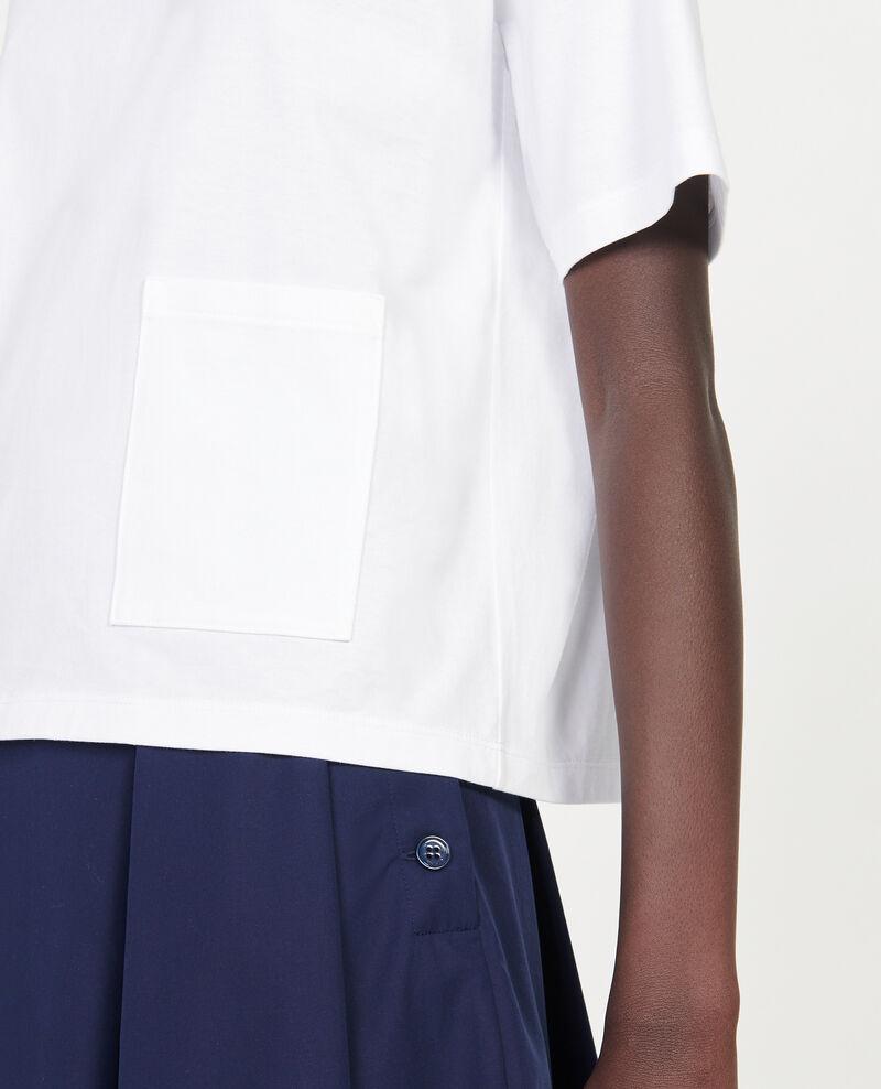 T-Shirt boxy en coton mercerisé Optical white Lexana