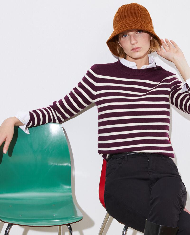 MADDY - Pull marin en laine mérinos Stp prpl jtst Liselle