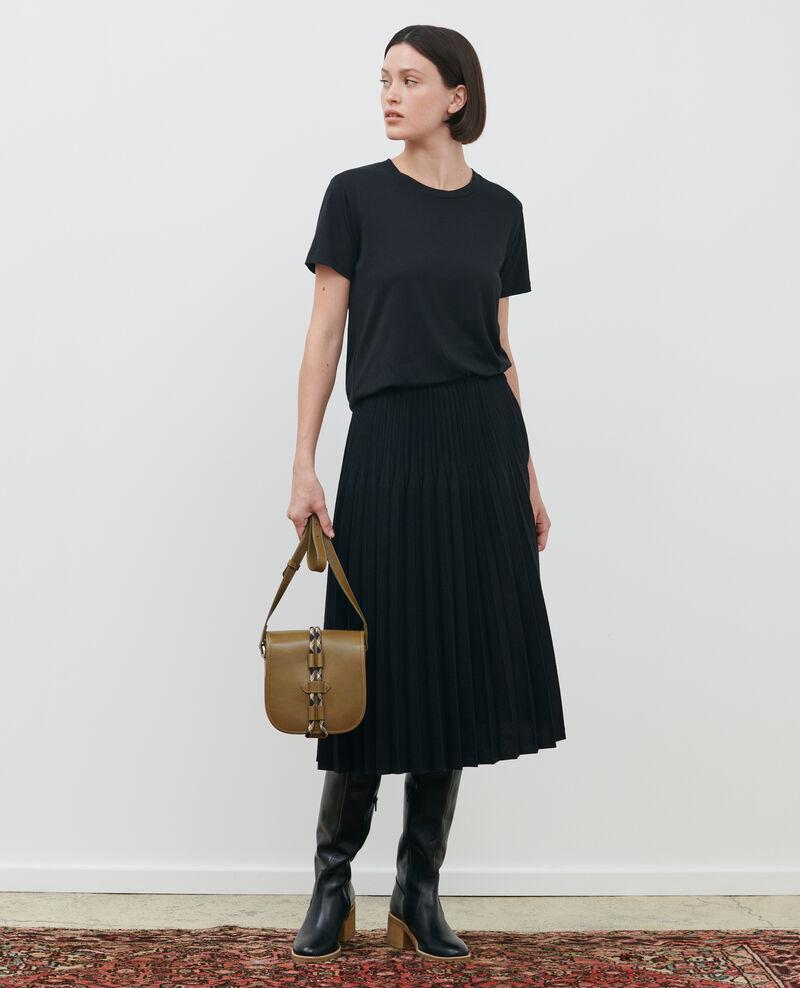 Jupe plissée en laine Black beauty Mareille