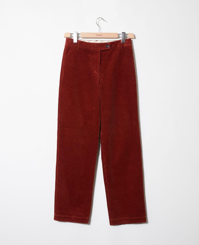 Pantalon en velours côtelé Brandy brown Jose