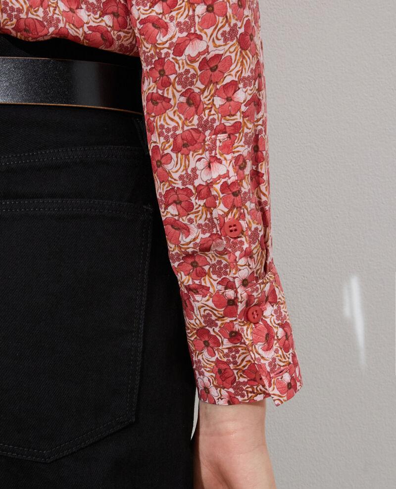 SIBYLLE - Chemise en soie manches longues Art deco pink Misabethou