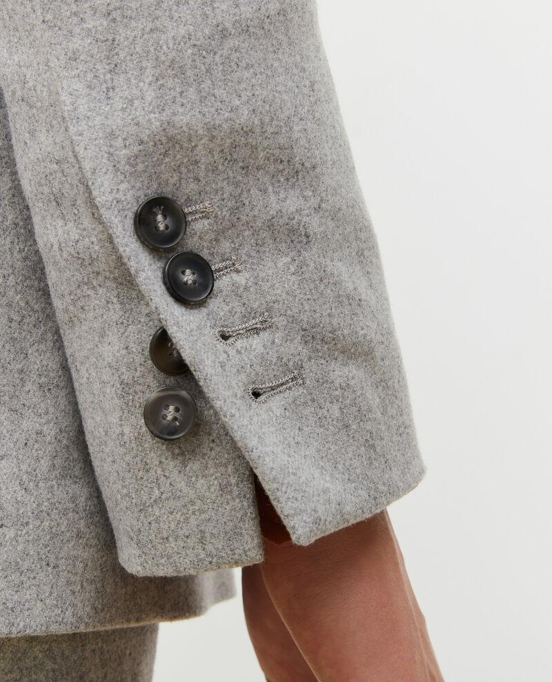 Blazer croisé en laine Light grey melange Muciane