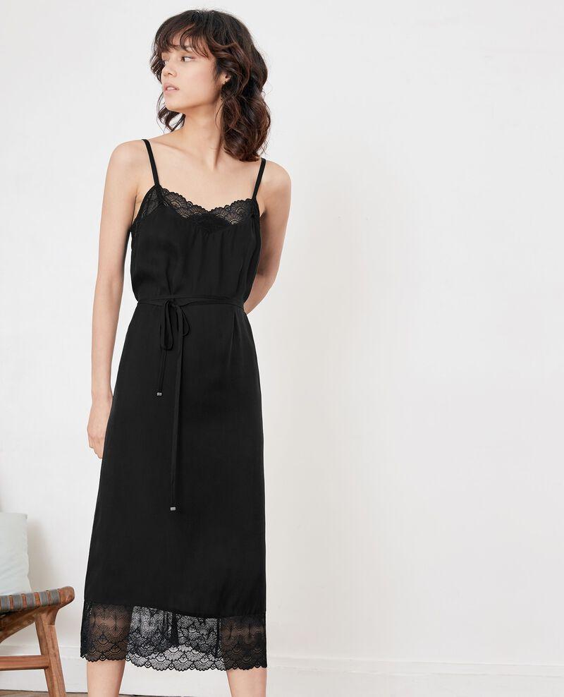 Robe style nuisette avec dentelle Noir Fran