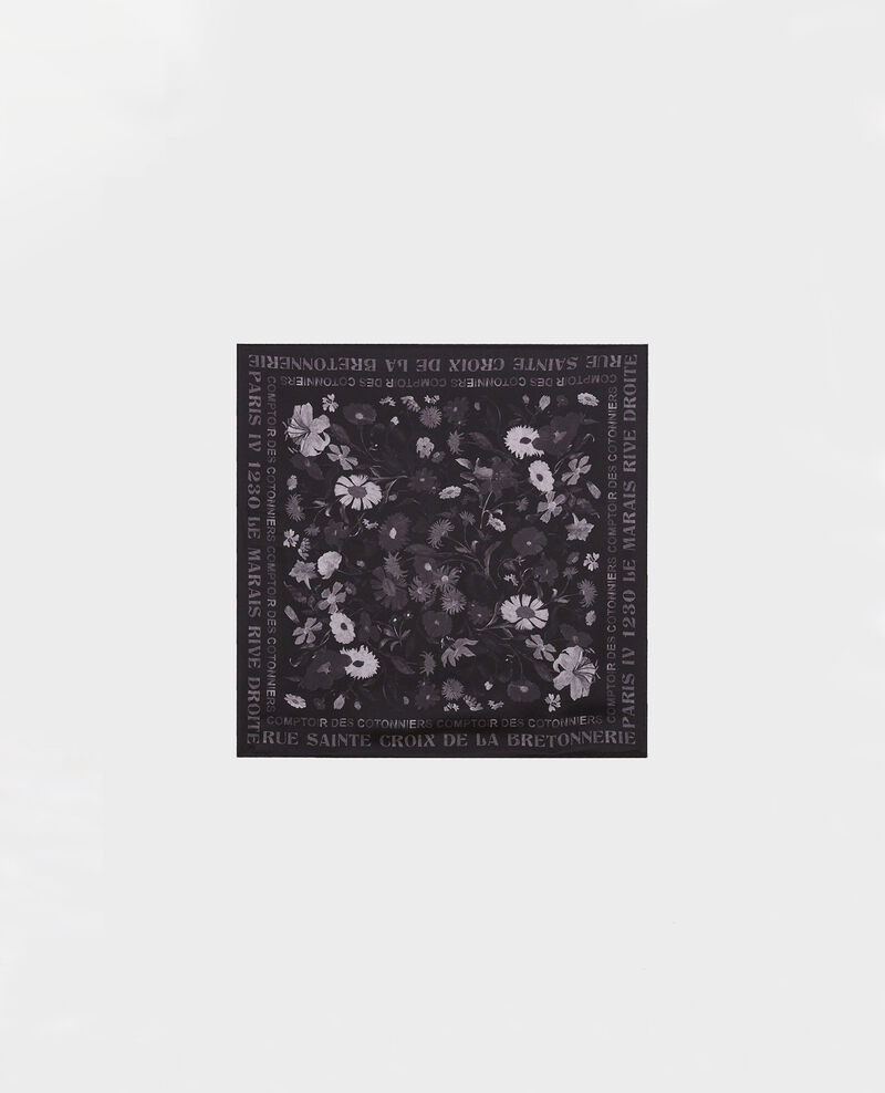 Foulard carré de soie Black beauty Maraiche