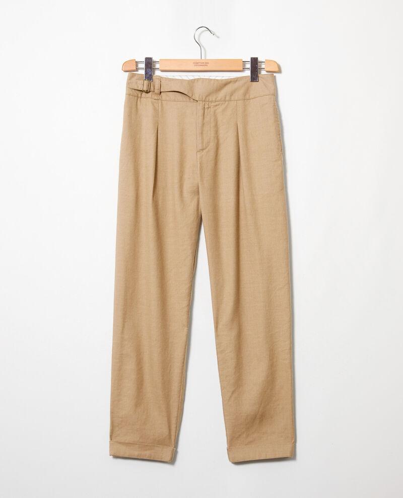 Pantalon avec du lin Natural beige Inouri