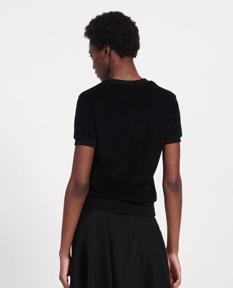 T-shirt en éponge  Black beauty Lis