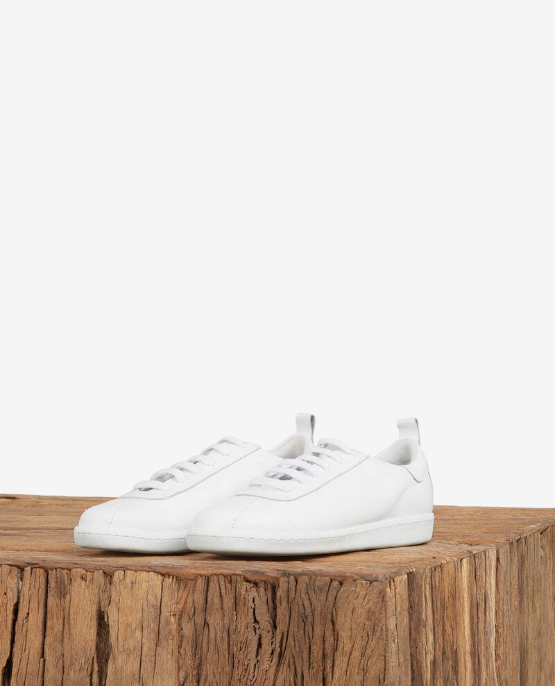f123c3c72225 Sneakers blanche en cuir pour femme - Delaver | Comptoir des Cotonniers