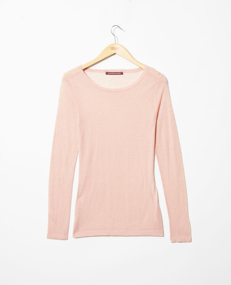 Pull en laine col rond Pink beige Idouard