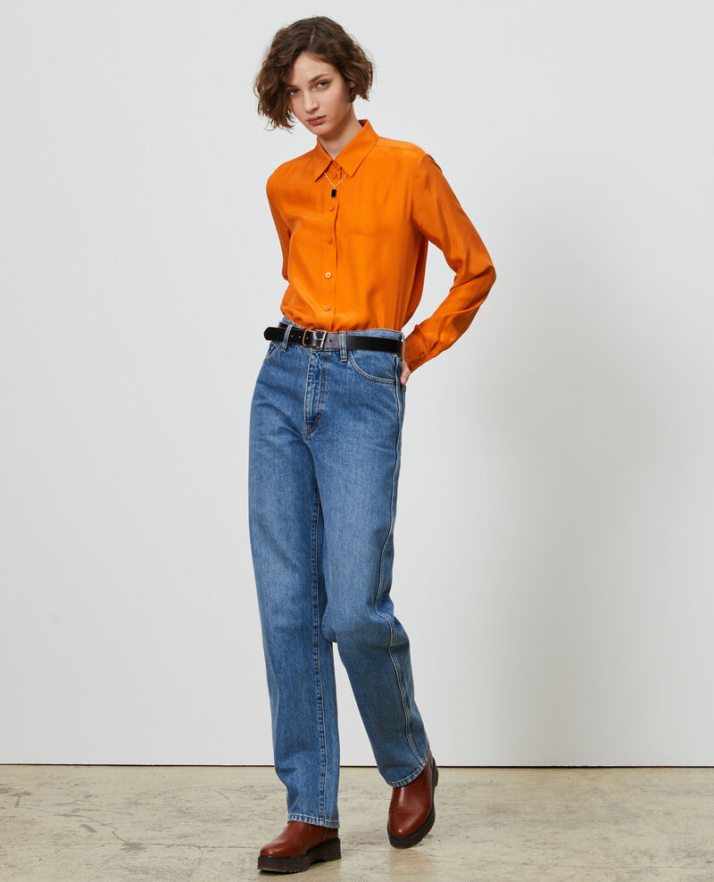 REGULAR - Jean ample taille haute Vintage wash Nastage