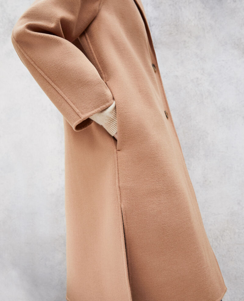 Manteau double face Caramel beige Irelie