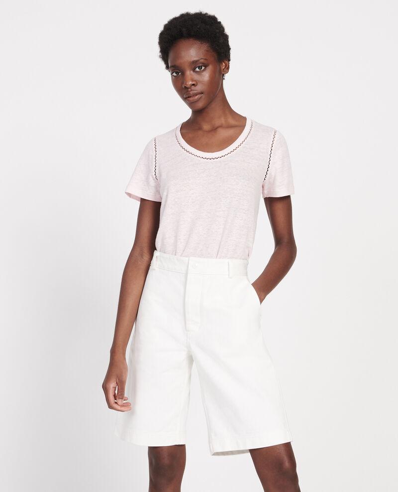 T-shirt en lin Primrose pink Lye