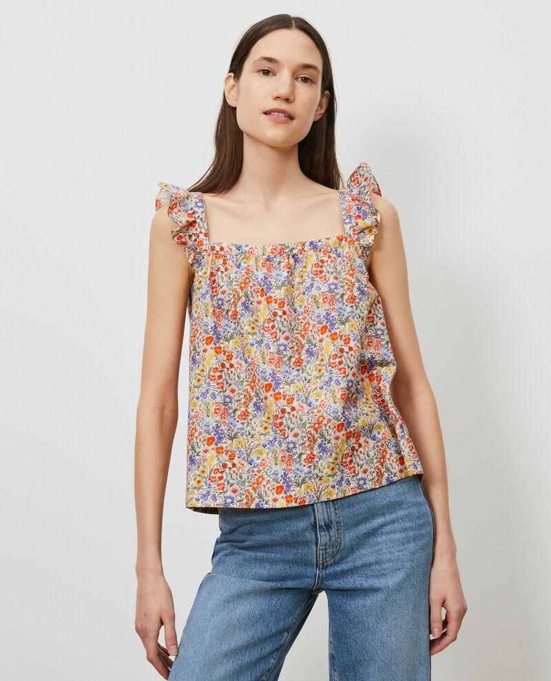 Top à bretelles en coton et soie Prairie gardenia Nympha
