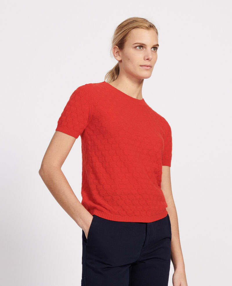 Pull en cachemire Fiery red Lotta